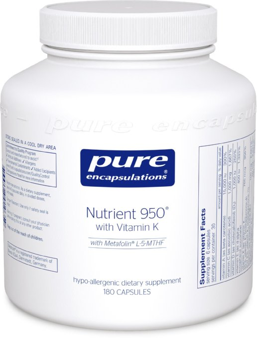 Pure Encapsulations Nutrient 950 w/vitamin K (180 capsules)